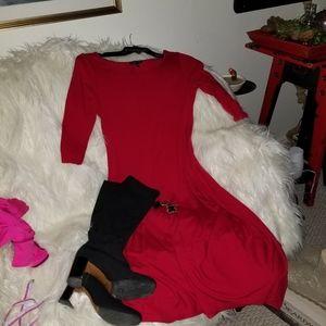 🤶 Beautiful red Eileen Fisher dress